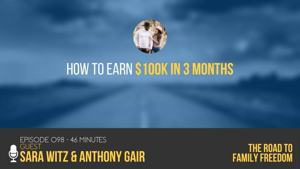 How to Earn $100k in 3 Months with Sara Witz and Anthony Gair - Feature Image